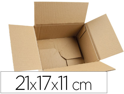 Caja de embalaje automontable 21x17x11cm (5 unds.)