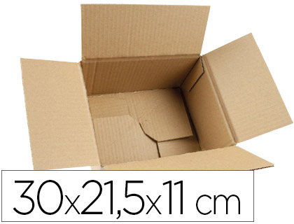 Caja de embalaje automontable 30x21,5x11cm (5 unds.)