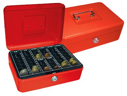 Caja de caudales color roja de 25x9x18 cm loan papeleria for Caja de caudales