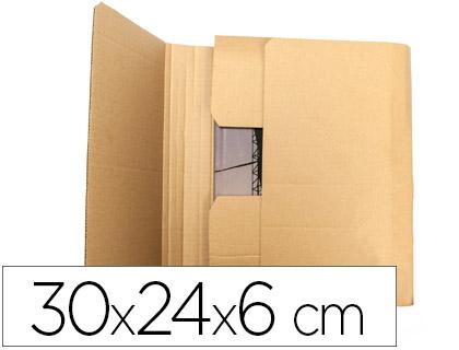 Caja para embalar libros 30x24x6 cm (5 unds)