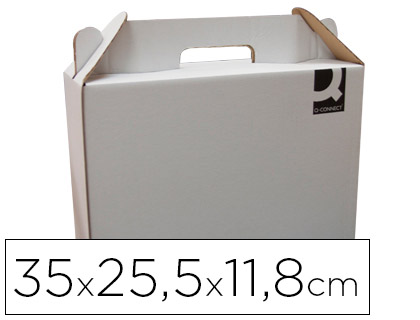 Caja maletín embalaje blanca (20 unds)