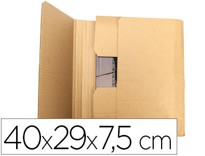 Caja para embalar libros 40x29x7,5 cm (5 unds)