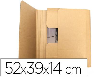 Caja para embalar libros 52x39x14 cm (5 unds)