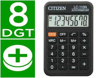 calculadora de bolsillo Citizen LC-110N negra