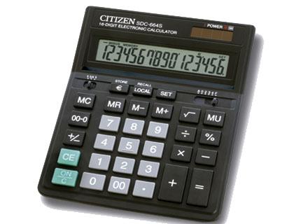 Calculadora de sobremesa Citizen SDC-664S