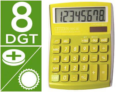 Calculadora de sobremesa verde
