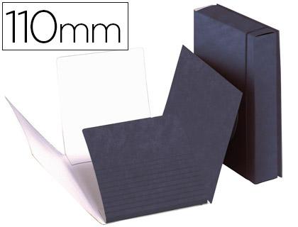 Carpeta de proyectos carton folio azul -lomo extensible de 11 cm