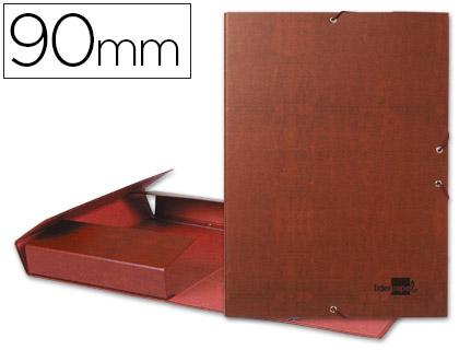 Carpeta proyectos folio lomo 90mm carton forrado cuero