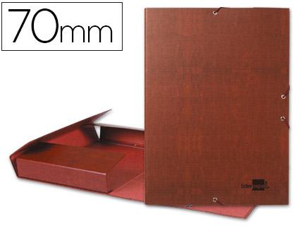 Carpeta proyectos folio lomo 70mm carton forrado cuero.