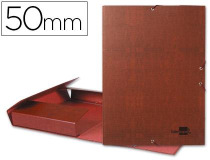 Carpeta proyectos folio lomo 50mm carton forrado cuero.