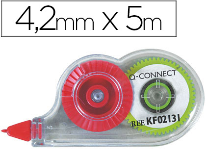 Cinta correctora mini Q-Connect 4,2mm x 5m