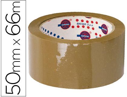 Cinta de embalaje de polipropileno marrón 66 m x 50 mm