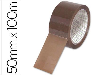Cinta de embalaje marrón de 100 x 50 polipropileno (Pack de 6)