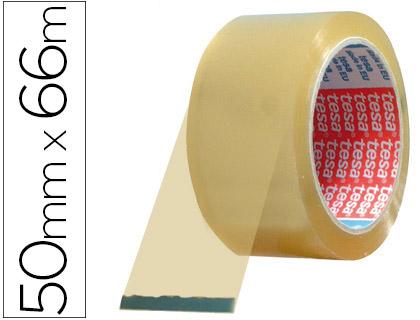 Cinta adhesiva tesa pvc color transparente