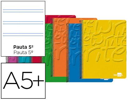 cuaderno espiral cuarto pautado