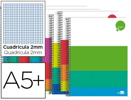 Cuaderno tapa extradura CUARTO 80 hojas milimetrado