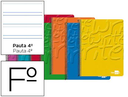 cuaderno espiral folio pautado