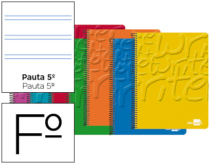 Cuaderno espiral folio