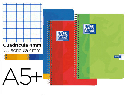 cuaderno oxford tapa cartoncillo