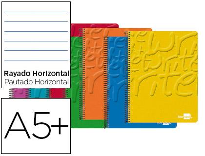 Cuaderno espiral cuarto rayado horizontal