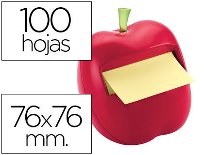 dispensador de pos it manzana