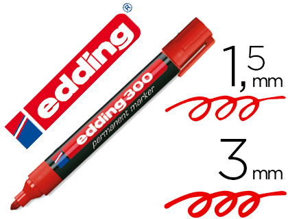 edding 300 rojo