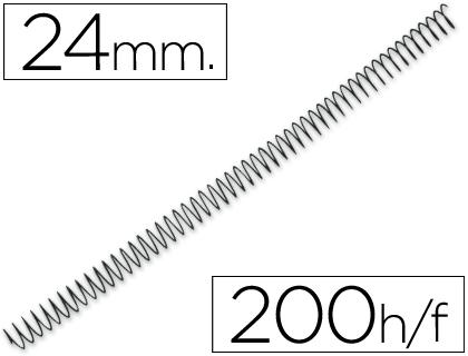 espirales metálicas 25 mm