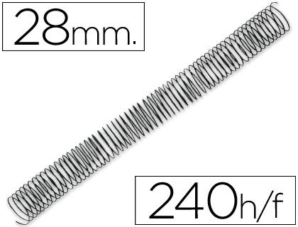 espirales metalicas 28 mm