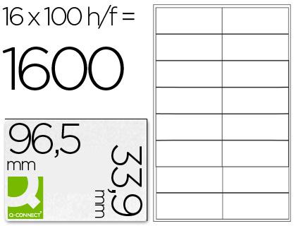 Etiquetas adhesivas Q-Connect para impresoras y fotocopiadoras