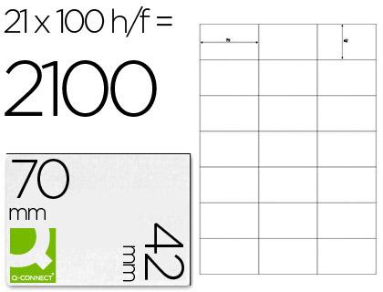 Etiquetas adhesivas para impresoras y fotocopiadoras.