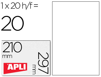 Etiquetas Apli 210 x 297 mm