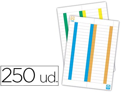 Tira de papel para visores pack de 250 etiquetas.
