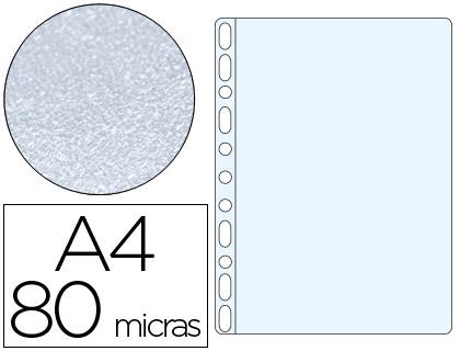 Funda multitaladro din a4 80 mc piel de naranja caja de 100 unidades
