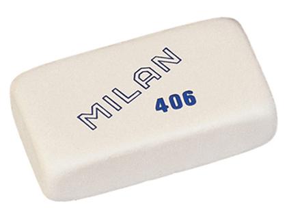 Goma de borrar Milan 406 (7 x 4 cm)