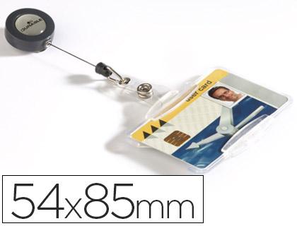 Identificador con cordon extensible durable uso vertical/horizontal