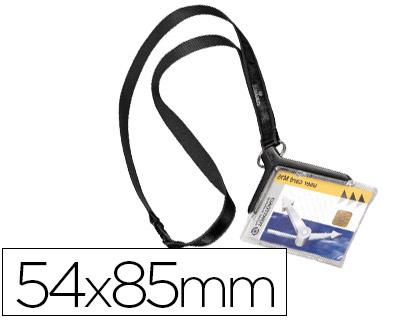 Identificador con cordón plano durable acrílico diagonal