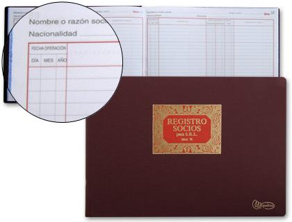 libro de registro de socios para srl