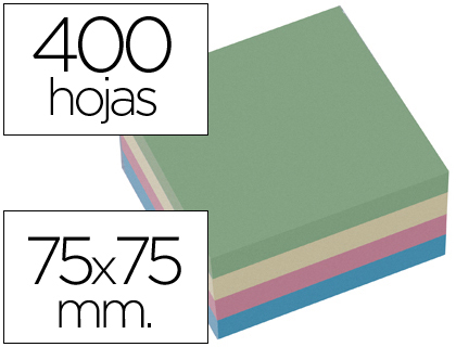 notas adhesivas colores pastel