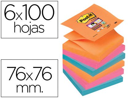 notas adhesivas colores eléctricos