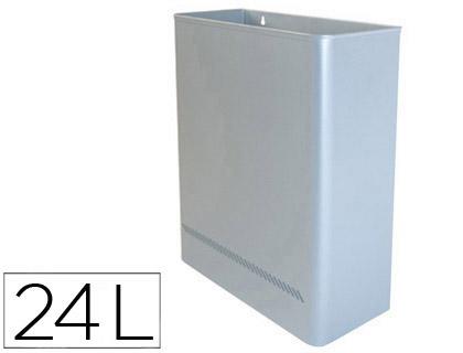 papelera metálica de pared