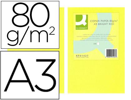 papel amarillo neon A-3 paquete de 500 hojas