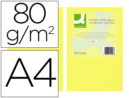 papel amarillo intenso A-4 paquete de 500 hojas