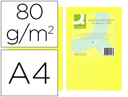 Papel amarillo NEÓN A-4 500 hojas 80 grs.