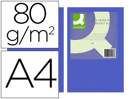 papel azul intenso A-4 paquete de 500 hojas
