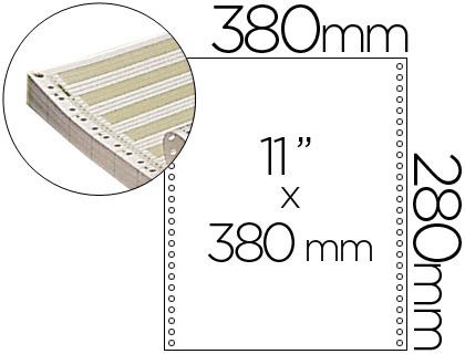 """Papel continuo pautado original 380 mm x 11"""" caja de 2500 hojas"""