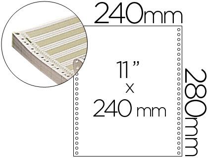 """Papel continuo pautado original 240 mm x 11"""" caja de 2500 hojas"""