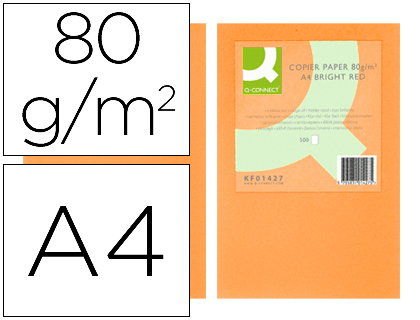 papel naranja neon A-4 paquete de 500 hojas
