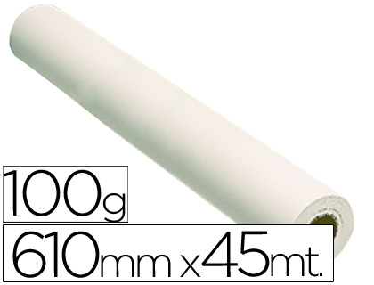 Papel para plotter estucado blanco mate 610 mm x 45 m 100 grs.