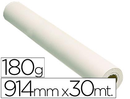 Papel reprografía blanco fotográfico 180 grs. 914 mm x 30 m