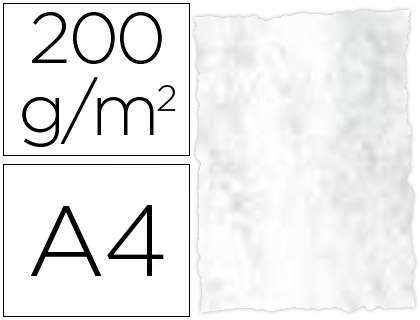 Papel pergamino Gris Marmoleado A-4 25 hojas
